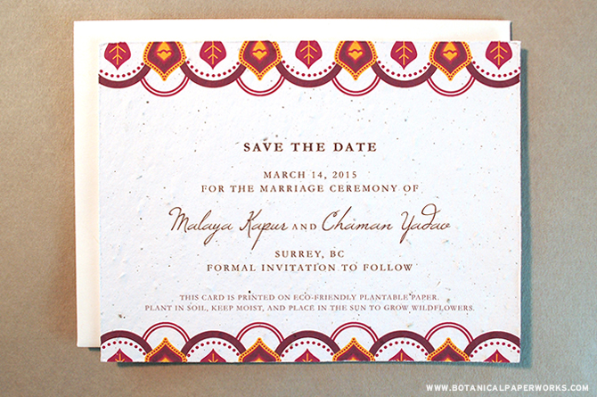 Bold and Ornate wedding styles are going to be hot in 2015. Take a look at this Trend Watch to see what else to expect in Seed Paper Save The Dates.
