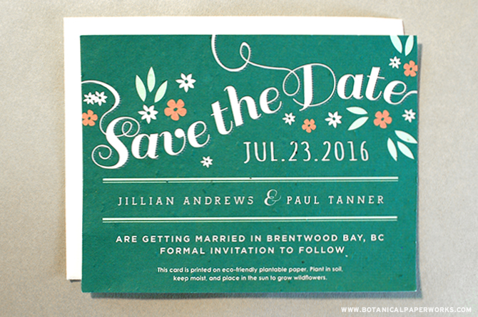 Garden Romance will be hot and trending in 2015 weddings. Take a look here to find out what else to expect in Seed Paper Save The Dates!