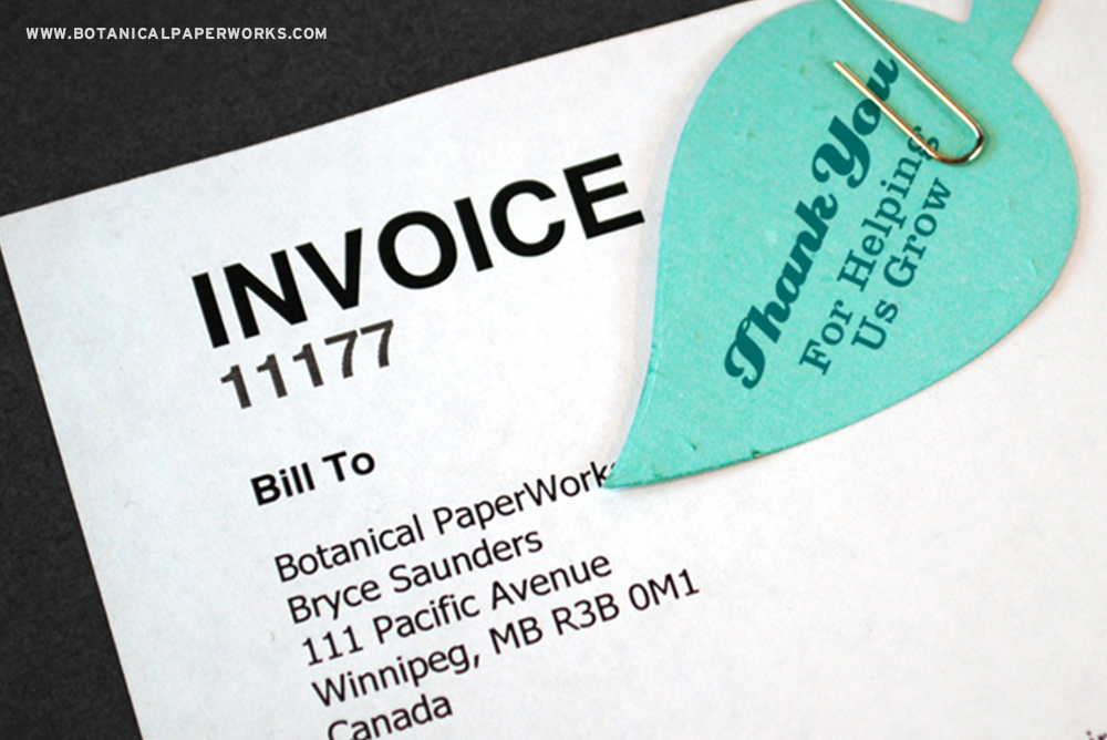 A thank you message on an invoice goes a long way when developing client relationships.