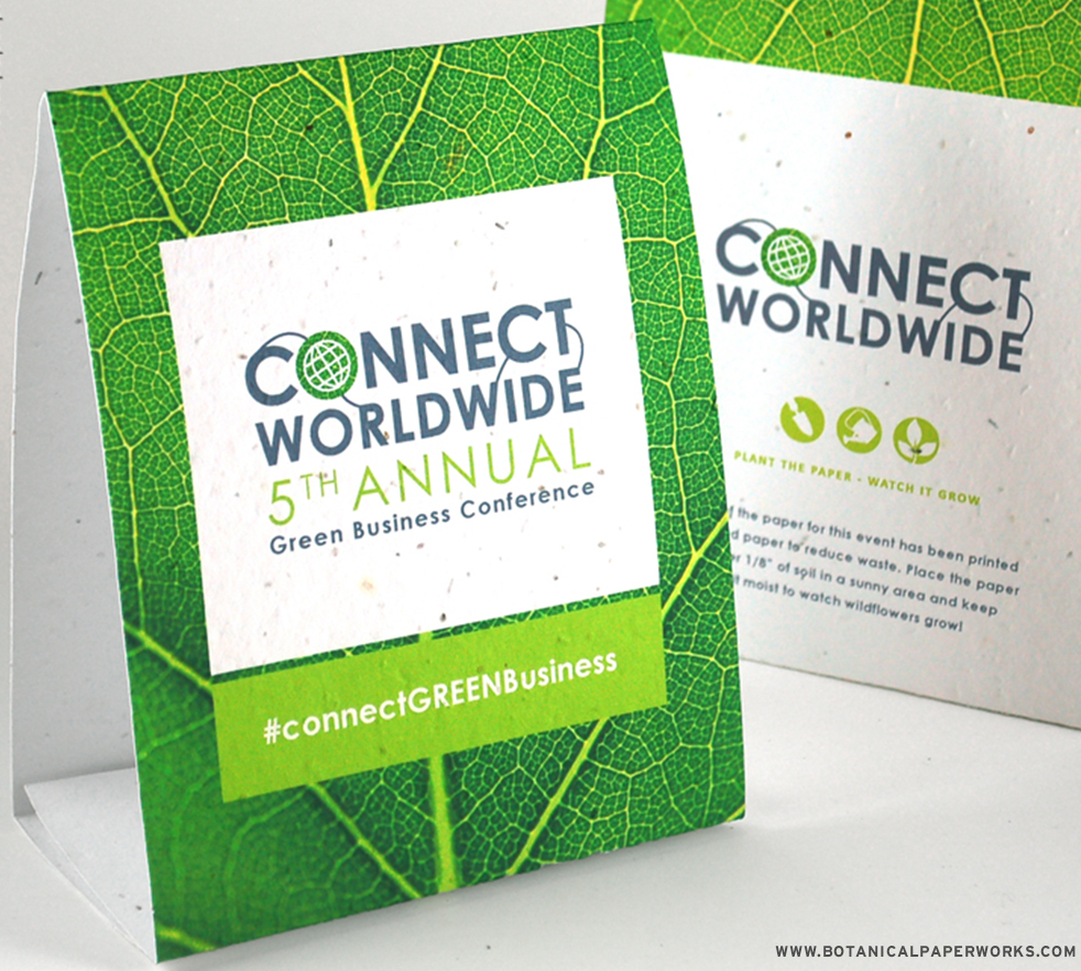 Ideal for eco-friendly event planning and green branding, these #seedpaper #tentcards are 100% plantable and leave no waste behind.