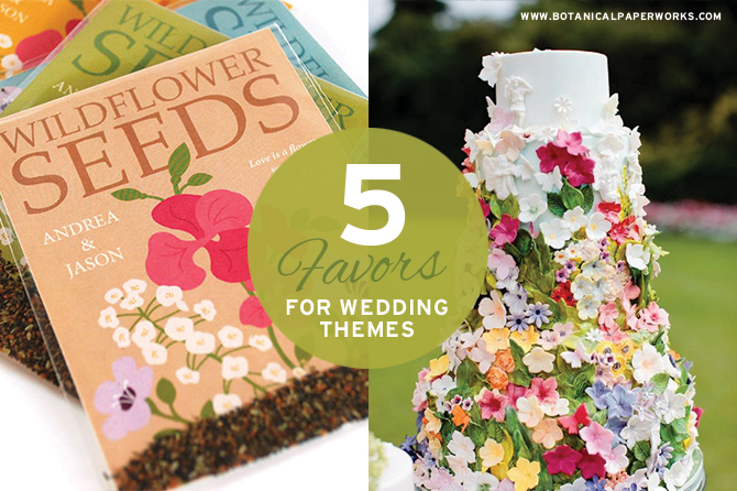 Find out which eco-friendly and stylish seed paper wedding favors match up with your chosen theme!