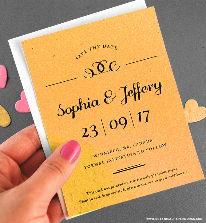Featuring classic typography with minimal design, the elegant Formal Text #Seed#Paper #SaveTheDates are sure to impress. #weddings #bridetobe