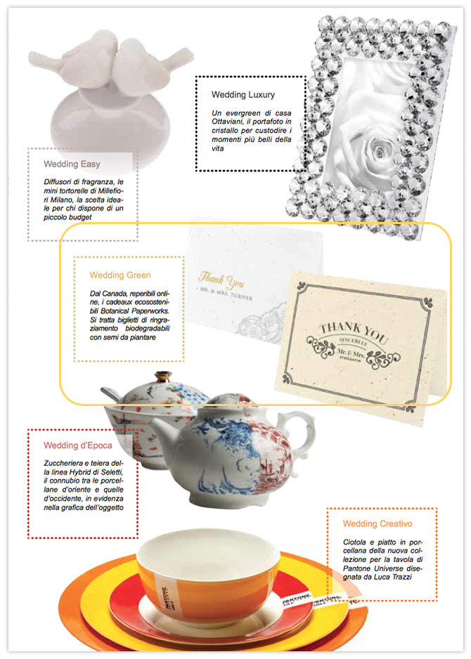 Our Romantic Lace and Vintage Thank You Cards are among the other beautiful items featured in Italian wedding magazine, Mia Sposa.