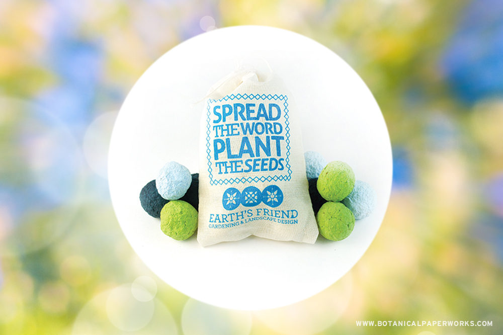 Get growing with your next summer promotion with plantable Seed Bombs! See this and other ideas for gardening giveaways.