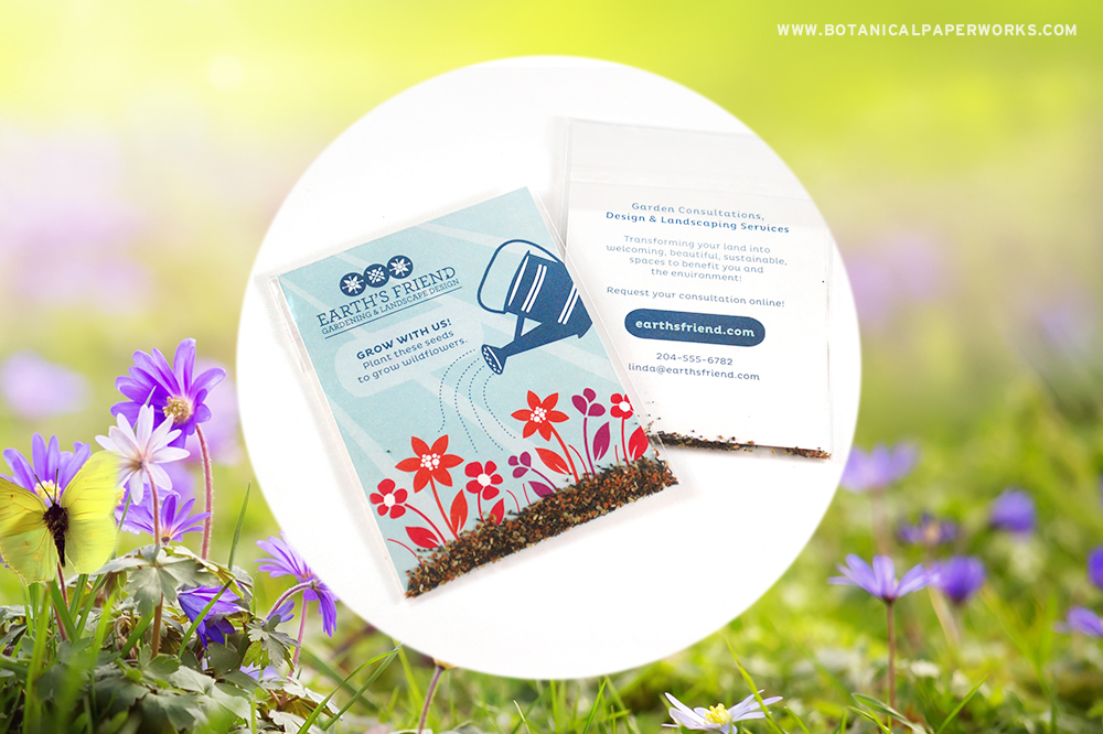 There is no better way to celebrate the season of planting than spreading seeds and these Promotional Seed Packets share tons of them! See this and other ideas for gardening giveaways.