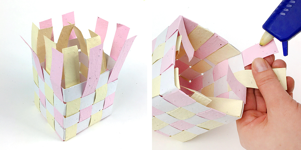 Follow these easy steps to make plantable seed paper Easter baskets!