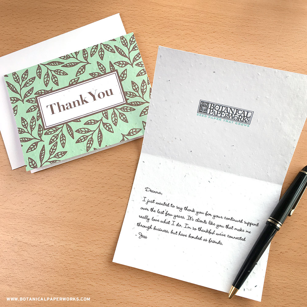 https://www.botanicalpaperworks.com/catalog/promotional-items/plantable-seed-greeting-cards-postcards/01867/classic-leaves-plantable-business-thank-you-cards