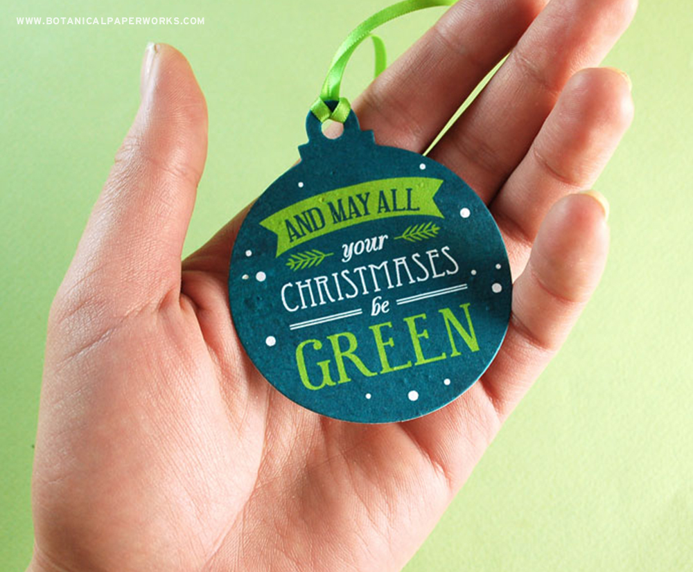 Seed Paper Christmas Ornaments