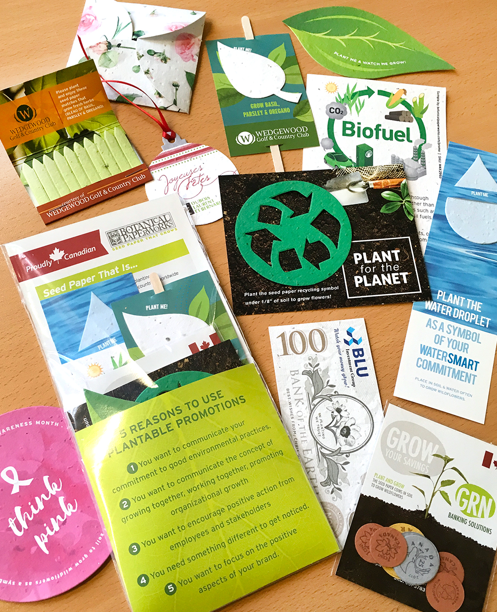 Botanical PaperWorks seed paper promotional products