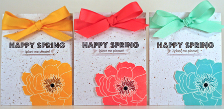 seed paper spring cards