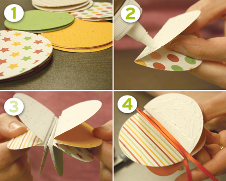 Seed Paper Ornament Steps