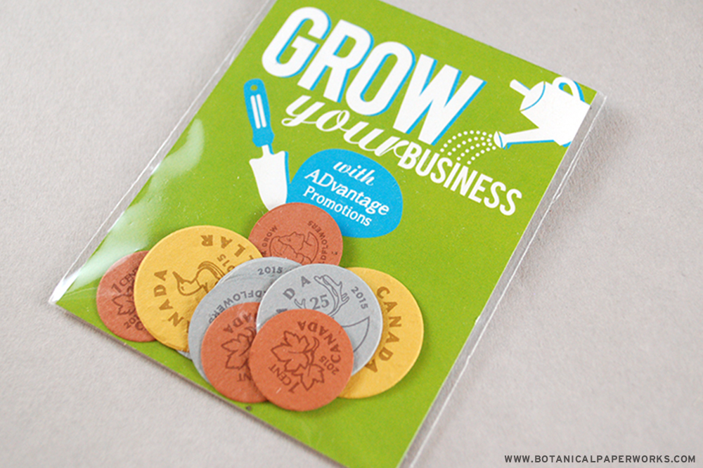 Seed Paper Coins are the perfect Spring promotions - they're conversation starters and they grow wildflowers!
