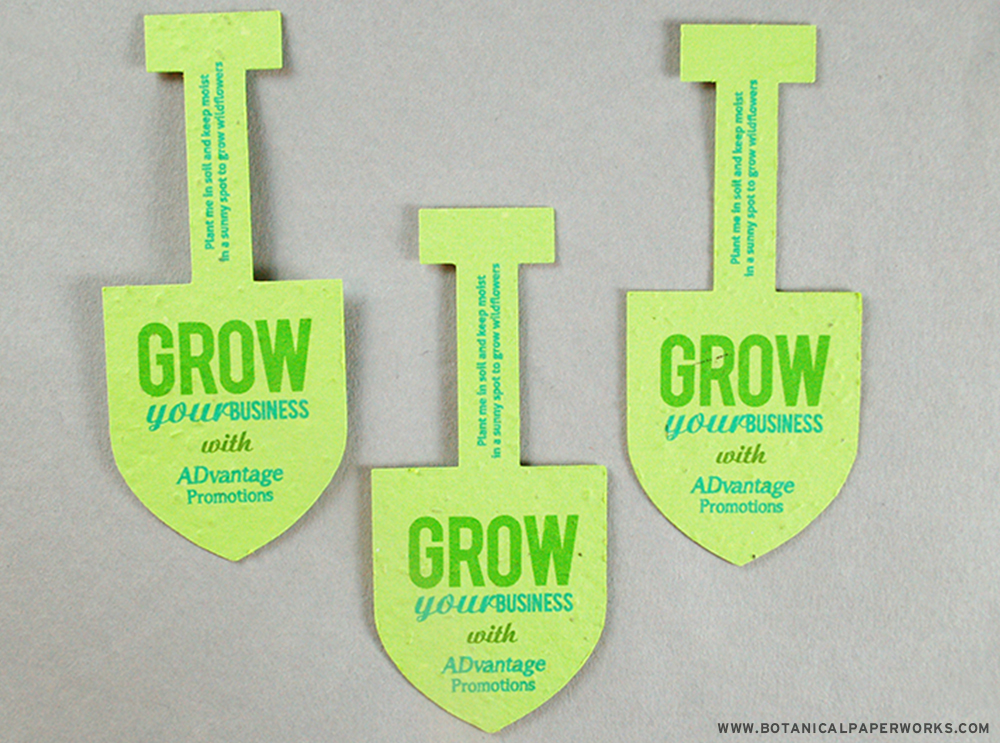Grow great things for your business with these Printed Shapes for self promotions.