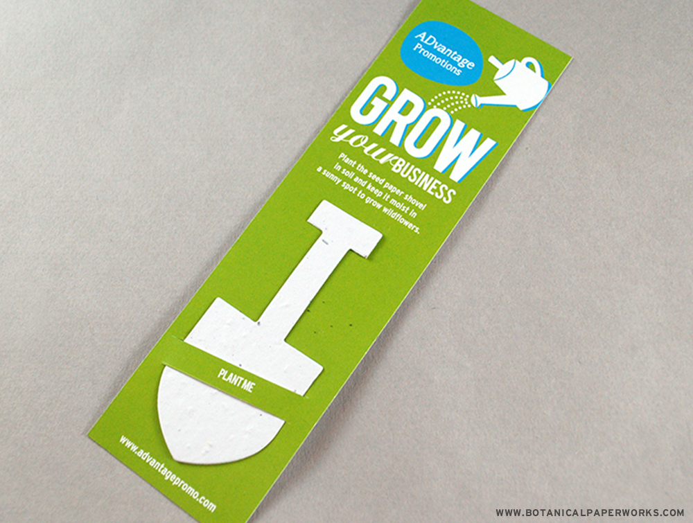 Seed Paper Bookmarks are a creative and sustainable way to distribute self promotions.