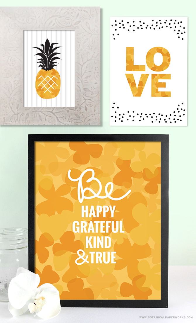 These gorgeous Spring Wall Art Printables will do a fabulous job at brightening up your home for spring!