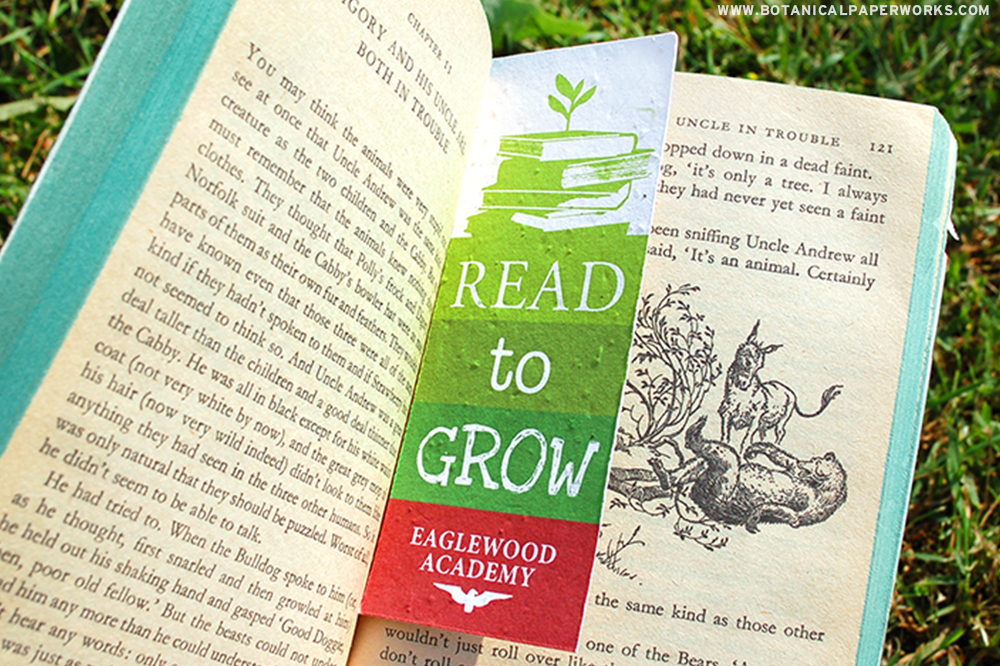 Great for reading on a warm summer afternoon, these Seed Paper Bookmarks make the perfect Summer Promotions for clients!