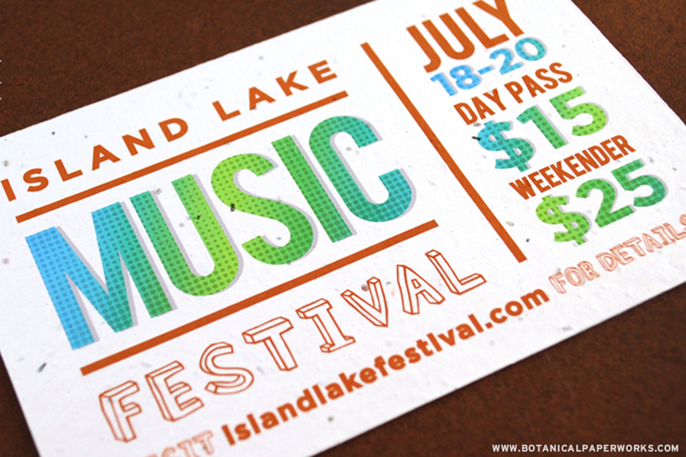 Perfect for promoting music festivals, local farmers markets or bake sales, these Panel Cards are perfect for Summer Promotions!