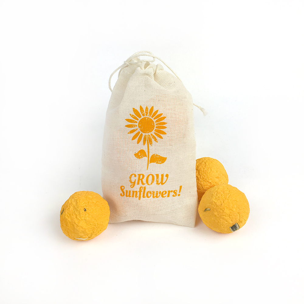 Share a cheerful promotional product this spring or summer with sunflower seed bombs!