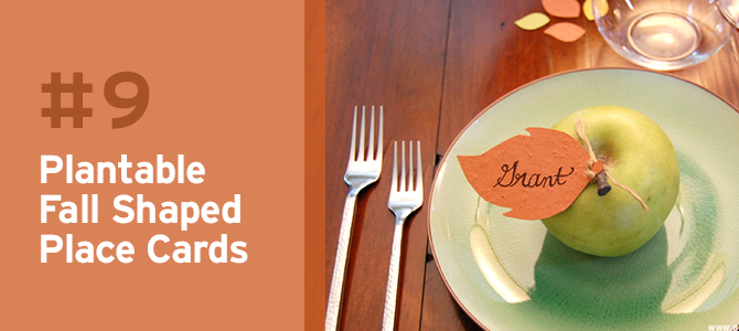 These DIY place cards can also be used as a fun thanksgiving activity to do with your guests.