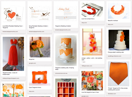 pinterest tangerine pinboard
