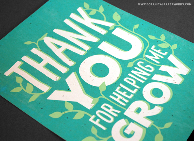 Print this FREE wall art on seed paper for an extra special thank you gift for your child's teachers and mentors.