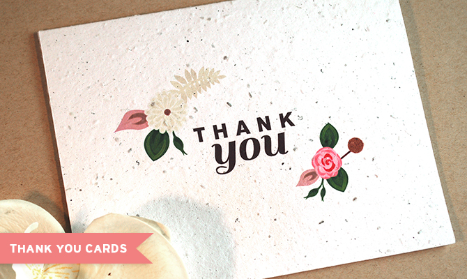 Plantable Wedding Thank You Cards By Botanical PaperWorks