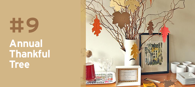 One of the best things about Thanksgiving is getting the chance to add festive decor to your home. We love the look and idea of creating these beautiful annual thankful trees and it couldn't be easier!
