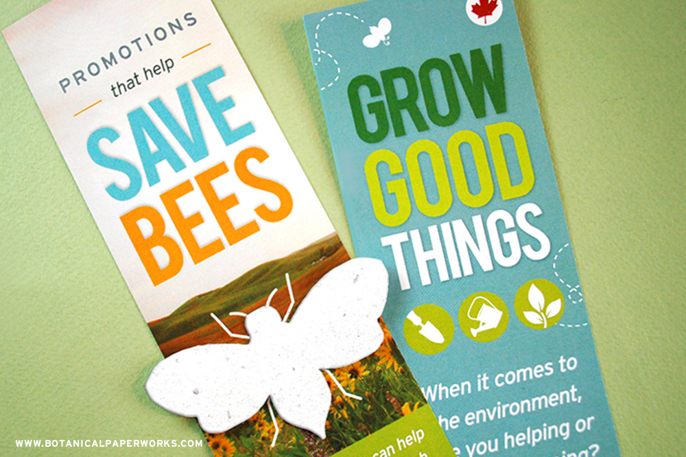 Take a look at how Botanical PaperWorks used a #seedpaper self #promotion to send a powerful message about spreading wildflowers to benefit important species like bees.