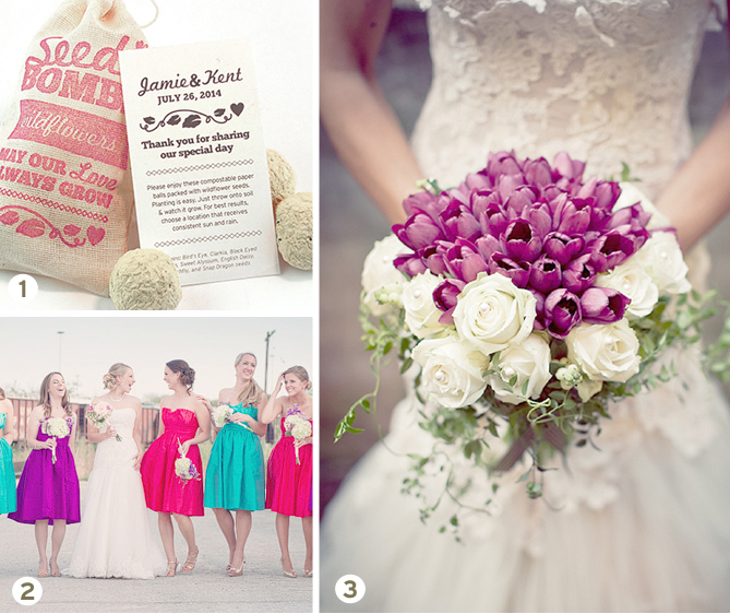A fresh and inspiring tulip wedding inspiration board with tons of ideas for using a tulip theme in your wedding!