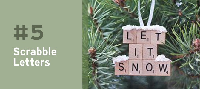 Charming and unique, single Scrabble letters can come together to make the most beautiful upcycled Christmas ornaments.