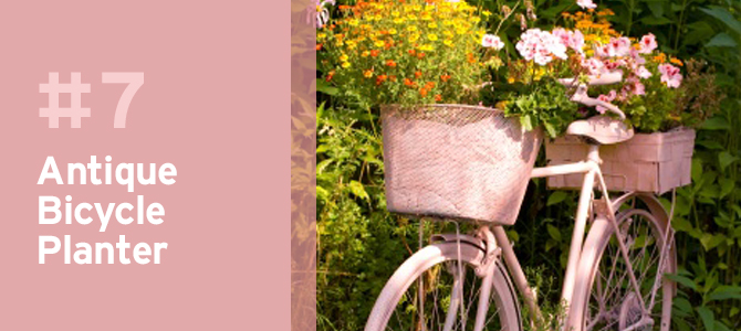 Paint an old bike for the ultimate rustic feature piece in your yard or garden.