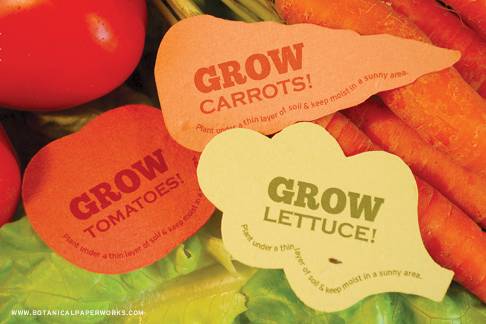 Your clients will love growing their own veggies with these unique promotional products!