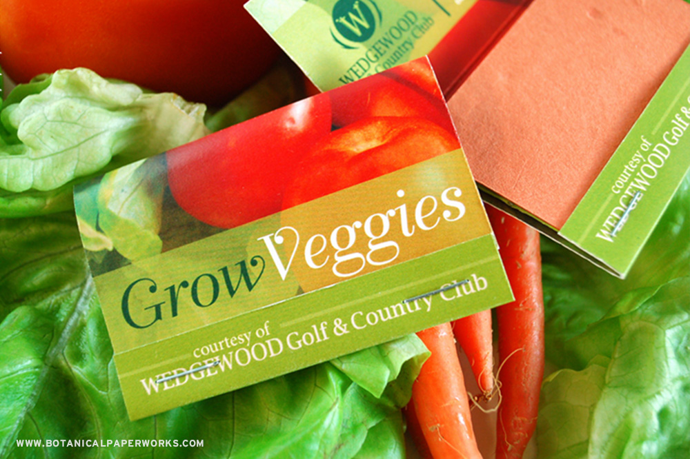 Grow a garden with these Veggie Matchbooks.