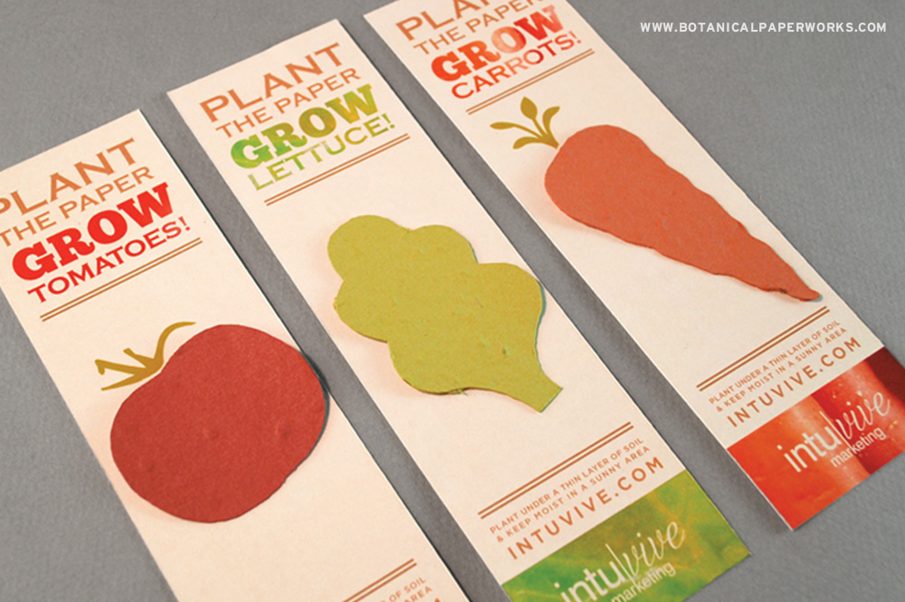 After clients are finished reading, they can plant their Veggie Bookmarks and grow a fresh and delicious bounty of vegetables!