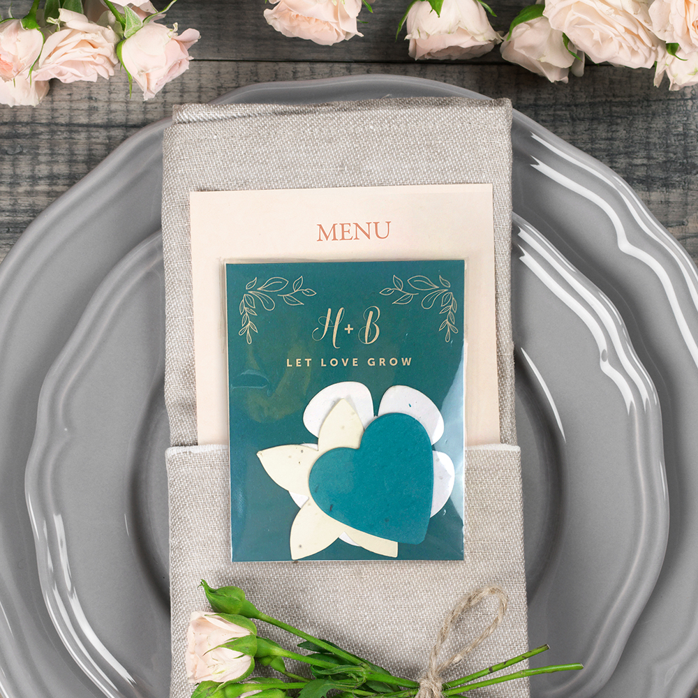 These Eco-friendly Wedding Favors are a stylish yet sustainable way to celebrate your growing love.