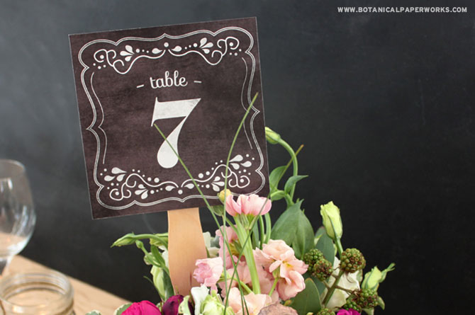 These beautiful Chalkboard Table Numbers are a fantasitc way to add more of that rustic yet chic chalkboard design into your wedding while letting guests know where they'll be sitting during the dinner and reception.