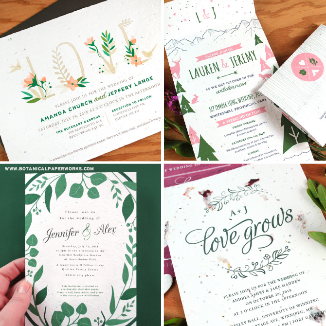 Wedding invitations are a formality that holds a special significance and a very important purpose. Our seed paper wedding invitations will help you set the tone and get your guests excited to attend your big day!