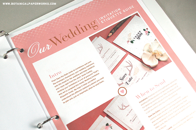 This Wedding Invitation Etiquette Guide in the Wedding Planning Binder has everything you need to know when planning your wedding stationery.