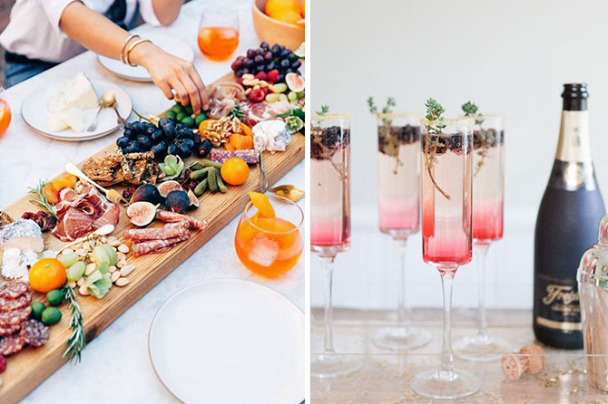 Signature cocktails and memorable food are one of today's top wedding trends found in this inspiration roundup.