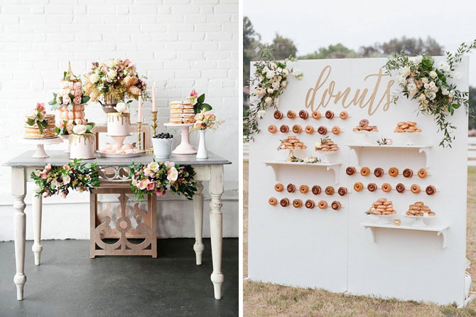 Decadent and dreamy dessert tables are one of today's top wedding trends found in this inspiration roundup.