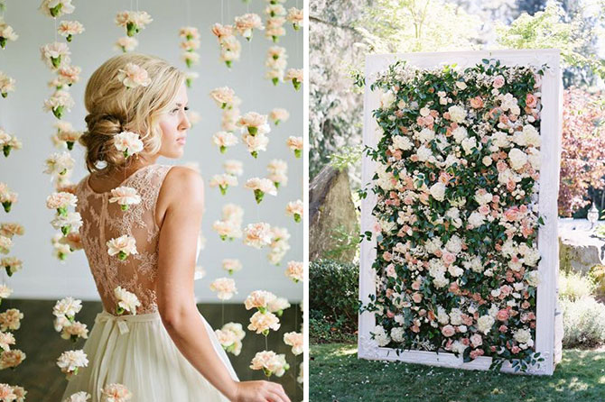 Floral installations are one of the beautiful wedding trends found in this inspiration roundup.