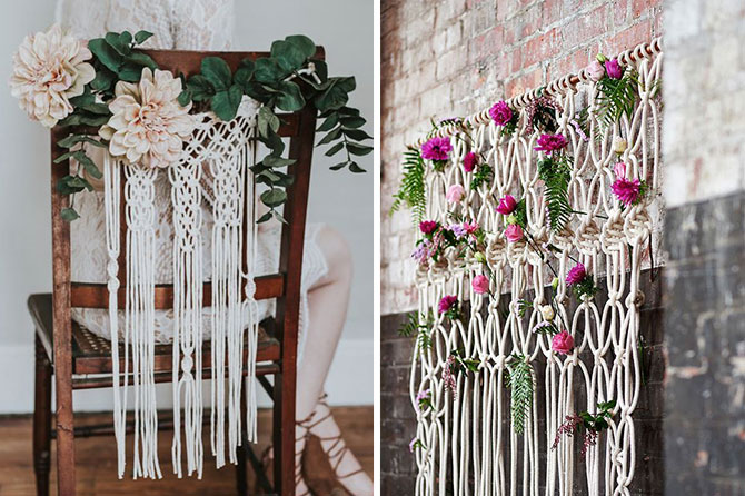 Macrame accents are one of today's top wedding trends found in this inspiration roundup.