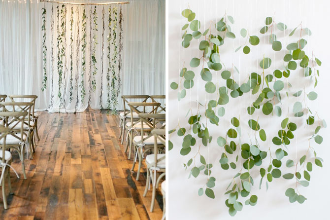 Greenery wall accents are one of today's top wedding trends found in this inspiration roundup.