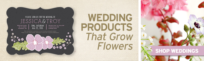 Browse through seed paper wedding collections by BotanicalPaperWorks.com.
