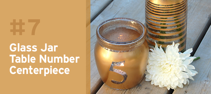 Wedding Upcycles - Upcycle old jars and vases into beautiful centerpieces and table numbers.
