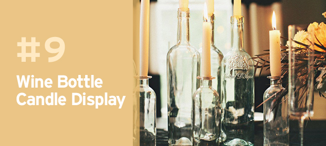 Wedding Upcycles - Upcycle your wine bottles and turn them into elegant candle holders.