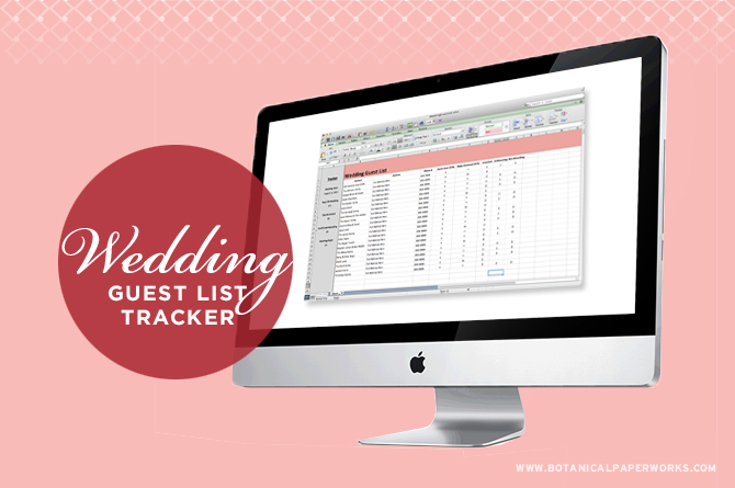 Keep your guest list organized with this chic Guest List Tracker Excel template.