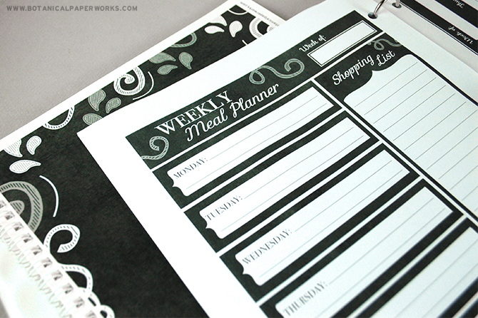 Create your own binder filled with matching planner pages and a monthly calendar with these FREE printables.