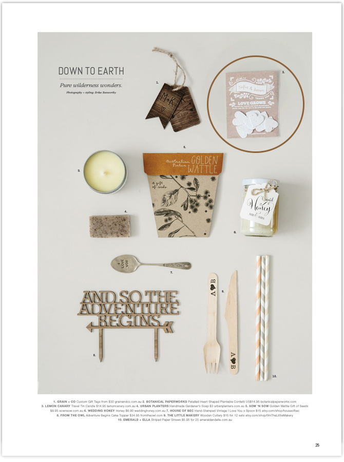 We're proud to have our seed paper products featured in Australia's White Magazine!