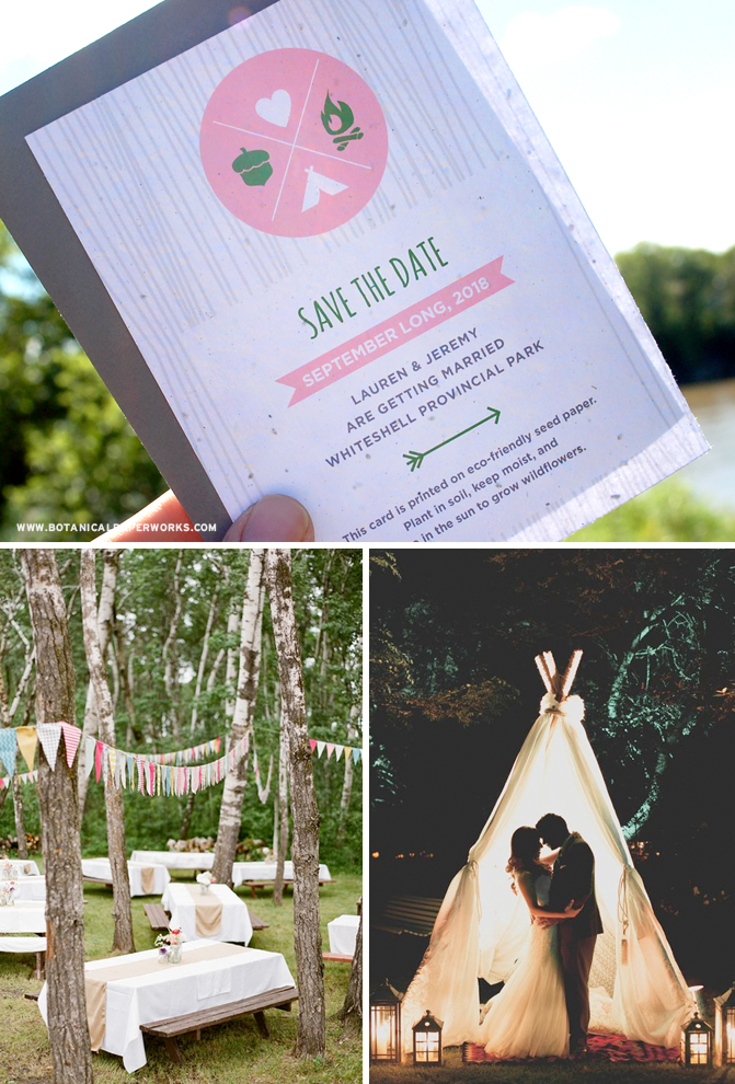 Check out our new plantable wedding invitations collection. It's perfect if you'e planning a nature-inspired wilderness wedding!